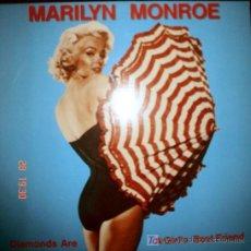 Discos de vinilo: DIAMONDS ARE A GIRL'S BEST FRIEND MARILYN MONROE 1990 WORLD MUSIC RECORDS. Lote 26872716