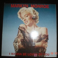 Discos de vinilo: MARILYN MONROE I WANNA BE LOVED BY YOU WORLD MUSIC RECORDS 1985. Lote 26872717
