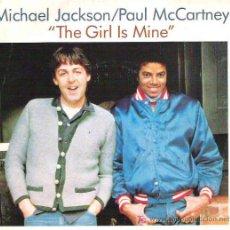 Discos de vinilo: MICHAEL JACKSON / PAUL MCCARTNEY - THE GIRL IS MINE / CAN`T GET OUTTA THE RAIN *** EPIC 1982. Lote 13992902