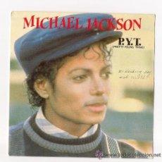 Discos de vinilo: MICHAEL JACKSON / P.Y.T..../ SINGLE VINILO HOLANDES/ PORTADA DE LA GORRA. Lote 14059082