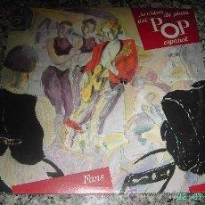 Discos de vinilo: ARCHIVO DE PLATA DEL POP ESPAÑOL (FANS) TEQUILA, SECRETOS, Y HOMBRES G. DOBLE LP. Lote 23445694
