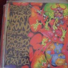 Discos de vinilo: THE WORST AROUND (LOS BICHOS-CANCER MOON-LA SECTA-LA PERRERA) ROMILAR RECORDS. Lote 25567930
