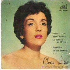 Discos de vinilo: GLORIA LASSO - ADIOS TRISTEZA ** EP LA VOZ DE SU AMO 1959. Lote 16341653