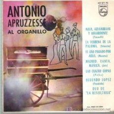 Discos de vinilo: ANTONIO APUEZZESE AL ORGANILLO - AGUA AZUCARILLOS Y AGUARDIENTE ** EP 1964 PHILIPS. Lote 14915134