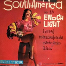 Discos de vinilo: SINGLE - SOUTH AMERICA WITH ENOCH LIGHT - BRASIL / MIAMI BEACH RUMBA.... Lote 14194503