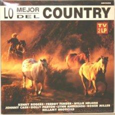 Discos de vinilo: LO MEJOR DEL COUNTRY DOBLE LP ARCADE 1993. Lote 120523348