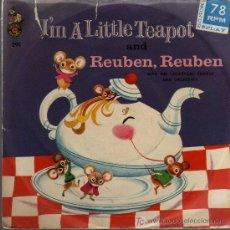 Discos de vinilo: SINGLE - CRICKETONE CHORUS & ORCHESTRA / DOROTHY SEASON - REUBEN REUBEN.... Lote 20153187