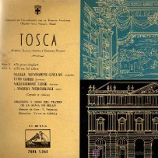 Discos de vinilo: SINGLE - TOSCA (PUCCINI) - MARIA MENEGHINI-CALLAS / TITO GOBBI / ORQ. Y CORO ESCALA DE MILAN. Lote 14181133