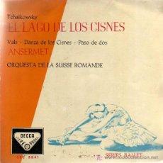 Discos de vinilo: SINGLE - EL LAGO DE LOS CISNES (TCHAIKOWSKY) - ANSERMET / ORQUESTA DE LA SUISSE ROMANDE. Lote 14181154