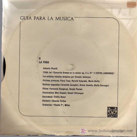 Discos de vinilo: SINGLE - GUIA PARA LA MÚSICA 2 - LA FUGA - Foto 2 - 14181158
