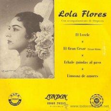 Discos de vinilo: LOLA FLORES EP SELLO COLUMBIA AÑO 1958. Lote 14175680
