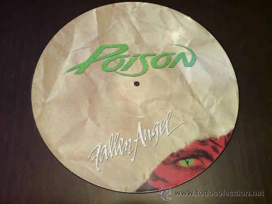 POISON - FALLEN ANGEL - MAXI FOTODISCO - 1988 - VINILOVINTAGE (Música - Discos de Vinilo - Maxi Singles - Heavy - Metal)