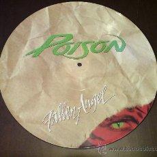 Discos de vinilo: POISON - FALLEN ANGEL - MAXI FOTODISCO - 1988 - VINILOVINTAGE. Lote 22930878