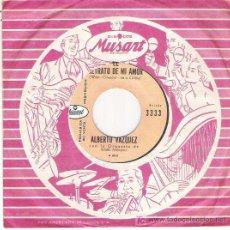 Discos de vinilo: ALVERTO VAZQUEZ - EL RETRATO DE MI AMOR / CREO EN TI *** MUSAT RECORDS PROMOCIONAL. Lote 15128581