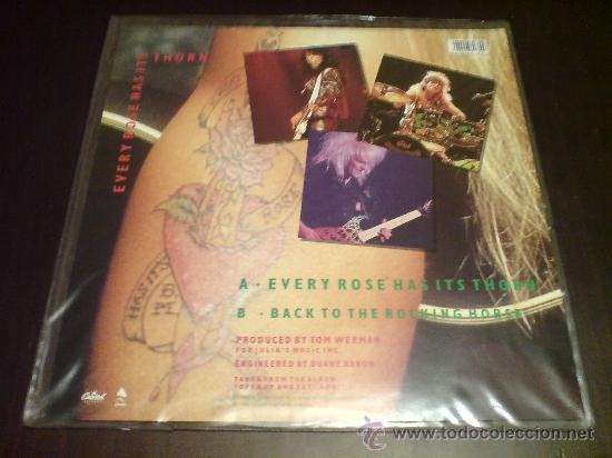 Discos de vinilo: POISON - EVERY ROSE HAS ITS THORN - MAXI FOTODISCO - 1988 - VINILOVINTAGE - Foto 3 - 22791538