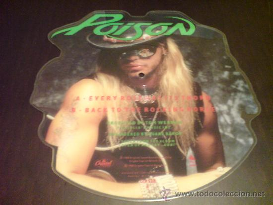 Discos de vinilo: POISON - EVERY ROSE HAS ITS THORN - MAXI FOTODISCO - 1988 - VINILOVINTAGE - Foto 4 - 22791538