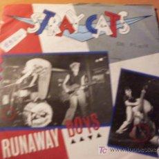 Discos de vinilo: STRAY CATS ( RUNAWAY BOYS ). 45 RPM ( EX / EX ) . Lote 14239127