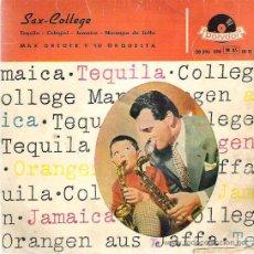 Discos de vinilo: MAX GREGER Y SU ORQUESTA - TEQUILA ** EP POLYDOR 1958 DIFICIL. Lote 14246423