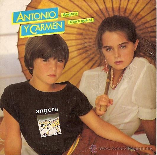 ANTONIO Y CARMEN (ROCIO DURCAL) SINGLE SELLO WEA AÑO 1982 PROMOCIONAL (Música - Discos - Singles Vinilo - Otros estilos)