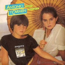 Discos de vinilo: ANTONIO Y CARMEN (ROCIO DURCAL) SINGLE SELLO WEA AÑO 1982 PROMOCIONAL. Lote 14245092