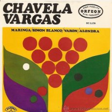 Discos de vinilo: CHAVELA VARGAS EP SELLO ZAFIRO AÑO 1966. Lote 103992023