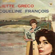 Discos de vinilo: JULIETTE GRECO / JACQUELINE FRANCOISE 10¨ (25 CTMS.) SELLO COLUMBIA EDITADO EN JAPON . Lote 14265781