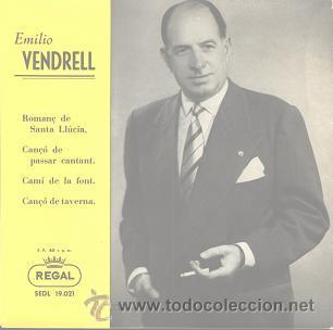 EMILIO VENDRELL (EP DE 1958) (Música - Discos de Vinilo - EPs - Clásica, Ópera, Zarzuela y Marchas)
