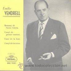 Discos de vinilo: EMILIO VENDRELL (EP DE 1958). Lote 24241487