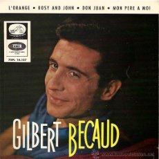 Discos de vinilo: GILBERT BECAUD EP SELLO LA VOZ DE SU AMO AÑO 1964. Lote 14309629