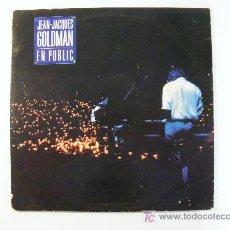 Discos de vinilo: JEAN-JACQUES GOLDMAN EN PUBLIC. Lote 17512067
