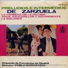 Discos de vinilo: PRELUDIOS E INTERMEDIOS DE ZARZUELA VOL 1 (EP 64) TEMAS EN PORTADA. Lote 14400877