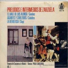 Discos de vinilo: PRELUDIOS E INTERMEDIOS DE ZARZUELA VOL 2 (EP 64) TEMAS EN PORTADA. Lote 14400884