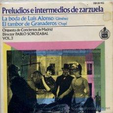 Discos de vinilo: PRELUDIOS E INTERMEDIOS DE ZARZUELA VOL 3 (EP 64) TEMAS EN PORTADA. Lote 14400898