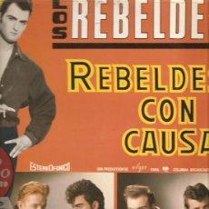 Discos de vinilo: LP LOS REBELDES - REBELDES CON CAUSA . Lote 25504447