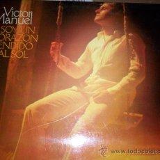 Discos de vinilo: VICTOR MANUEL - SOY UN CORAZON TENDIDO AL SOL. Lote 24212194