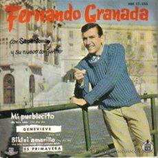 Discos de vinilo: FERNÁNDO GRANADA CON SANANTONIO Y SU NUEVO CONJUNTO..EP-1961..BIKINI AMARILLO +3. Lote 24582422