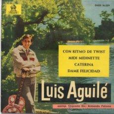 Discos de vinilo: LUIS AGUILE,CON RITMO DE TWIST DEL 63. Lote 14465051