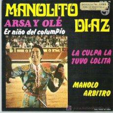 Discos de vinilo: MANOLITO DIAZ - ARSA Y OLE *** PHILIPS 1968 EP. Lote 25411306
