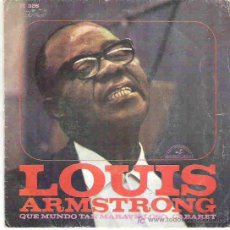 Disques de vinyle: LOUIS ARMSTRONG - WHAT A WONDERFUL WORLD / CABARET ** HISPAVOX 1968. Lote 15645445