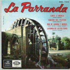 Discos de vinilo: LA PARRANDA - CANTO A MURCIA ** EMI REGAL EP 1966. Lote 14489253