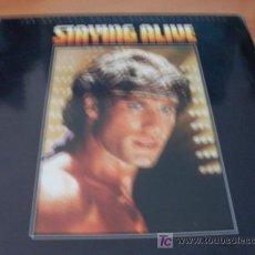 Discos de vinilo: STAYING ALIVE B.S.O. JON TRAVOLTA ( BEE GEES Y OTROS ...) LP 1977 (VIN). Lote 186393236