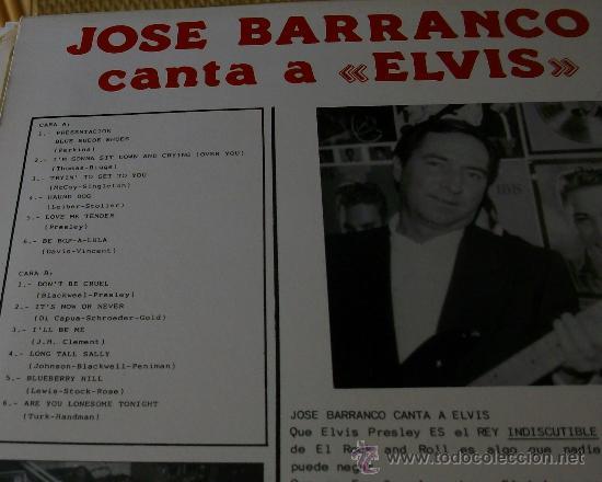 Discos de vinilo: MUSICA GOYO - LP - JOSE BARRANCO (Los Estudiantes) - CANTA A ELVIS PRESLEY *EE99 - Foto 2 - 22555156