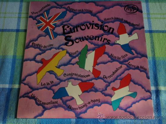 'EUROVISION SOUVENIRS' (LA,LA,LA ,PUPPET ON A STRING, CONGRATULATIONS, NON HO L'ETA,VOLARE,...) (Música - Discos - LP Vinilo - Festival de Eurovisión)