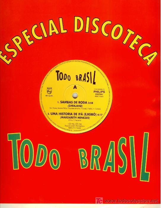 TODO BRASIL * UNA HISTORIA DE IFÁ (EJIGBÓ) * MAXI VINILO * PHILIPS * ULTRARARO!!! * NUEVO (Música - Discos de Vinilo - Maxi Singles - Étnicas y Músicas del Mundo)