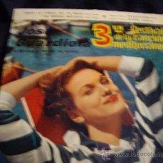 Disques de vinyle: JOSE GUARDIOLA-3º FESTIVAL DE LA CANCION MEDITERRANEA. Lote 14594450