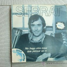 Disques de vinyle: JOAN MANUEL SERRAT - NO HAGO OTRA COSA QUE PENSAR EN TI / LAS MALAS COMPAÑIAS - SINGLE ARIOLA 1981. Lote 24649650