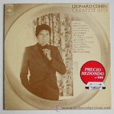 Discos de vinilo: LEONARD COHEN ··· GREATEST HITS - (LP 33 RPM). Lote 20216193