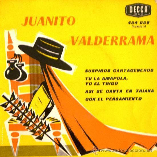 JUANITO VALDERRAMA (EDICIÓN FRANCESA) - 1963 (Música - Discos de Vinilo - EPs - Flamenco, Canción española y Cuplé)
