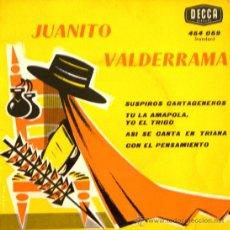 Discos de vinilo: JUANITO VALDERRAMA (EDICIÓN FRANCESA) - 1963. Lote 26468577