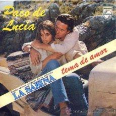 Discos de vinilo: PACO DE LUCÍA - BSO DE LA PELÍCULA LA SABINA - 1979. Lote 26420712